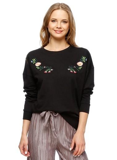 Endless Rose Sweatshirt Siyah